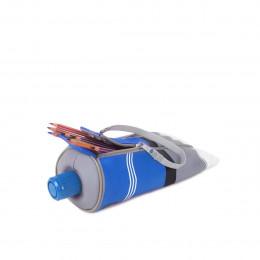 Trousse ludique en forme de tube de peinture bleu