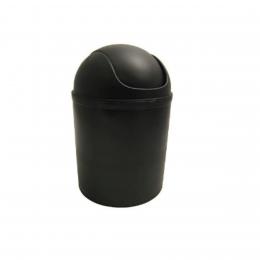 Poubelle à bascule noire. 5 litres