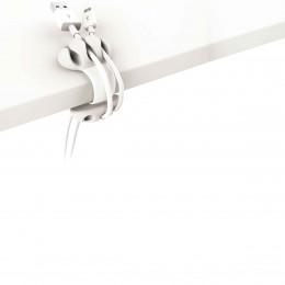 Clip à cables blanc et crème