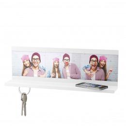 Étagère porte clés avec photos