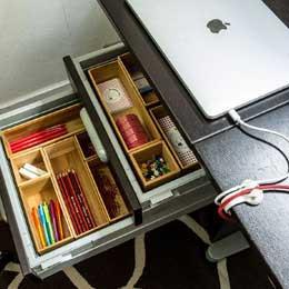 Organisation des tiroirs de bureau